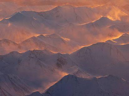 Montañas en Alaska (EE UU).