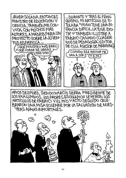 Página de 'Ahora que aún me acuerdo de todo (o casi...)', cómic publicado por Carlos Romeu en 2012.