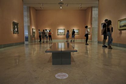 El Museo Thyssen-Bornemisza recibe una media de 2.800 visitantes diarios, y en sus salas es obligatorio el uso de la mascarilla.