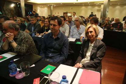 Andrés Herzog y Rosa Díez, en el Consejo Político de UPyD.