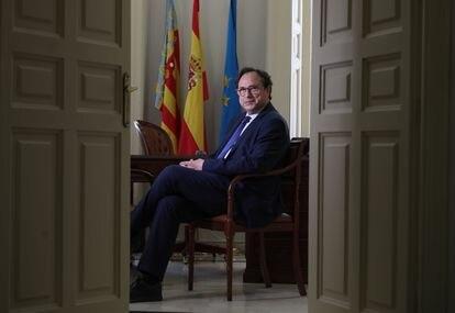 Vicent Soler, consejero de Hacienda de la Comunidad Valenciana en la sede de la Generalitat en Madrid.