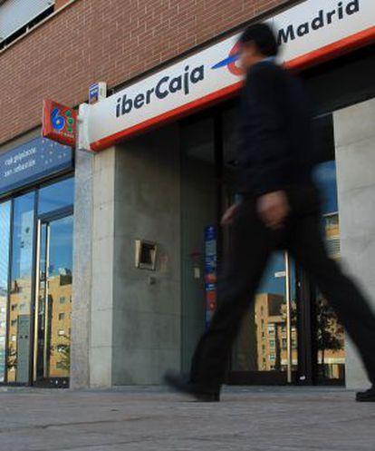 Una sucursal de Ibercaja en Madrid