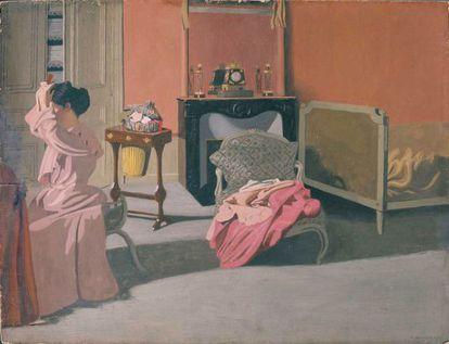 'Mujer peinándose' (1900), de Félix Vallotton, una de las piezas de la exposición