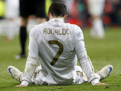 Cristiano Ronaldo tras la derrota del Real Madrid ante el Bayer de Munic en la semifinal de Champions.