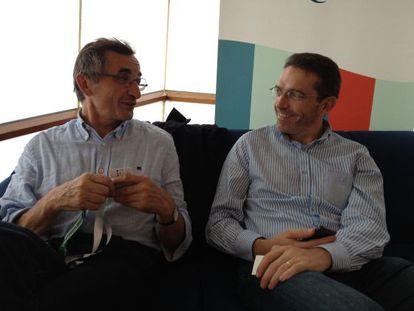 Michel Bras, a la izquierda, y su hijo Sébastien