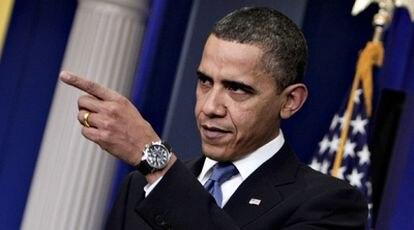 El presidente de EE UU, Barack Obama, durante la rueda de prensa en la Casa Blanca.