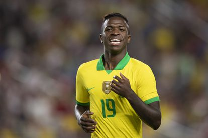 Vinicius during a match with the Brazilian team, in 2020.