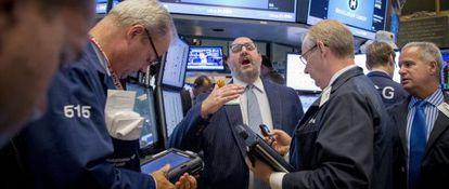 Corredores en la Bolsa de Nueva York, el pasado agosto.