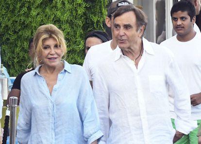 Carmen Cervera y Manolo Segura en Marbella el pasado agosto.