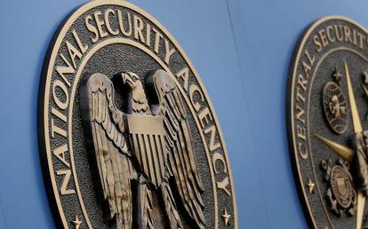 Logotipo de la NSA, en su sede a las afueras de Washington DC.