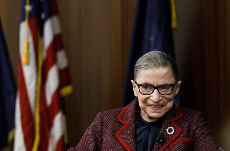 La juez del Tribunal Supremo Ruth Bader Ginsburg en Nueva York el 2018.