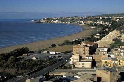 Una vista panorámica de Porto Empedocle, en la costa sicialiana.