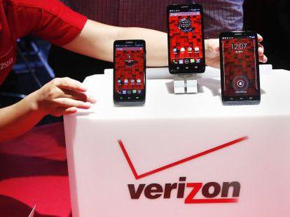 Teléfonos móviles de la compañía estadounidense Verizon.
