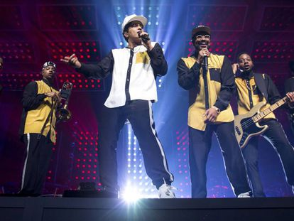 Bruno Mars en un concierto en Lille, (Francia).