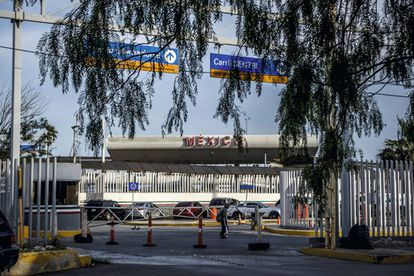 Paso fronterizo entre México y Estados Unidos.