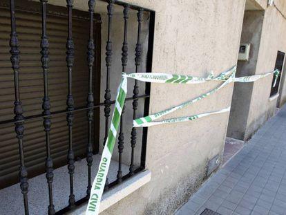 Vivienda de Argamasilla en la que se ha producido el tiroteo este jueves