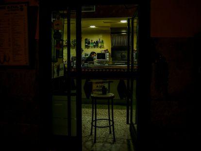 Un bar de Madrid.
