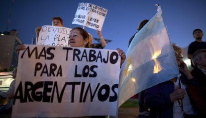 Una manifestación en Buenos Aires.