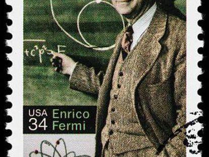 Sello conmemorativo de Enrico Fermi.