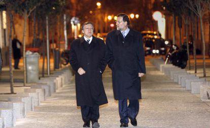 El presidente del Gobierno junto con el de la Comisión en una imagen de archivo