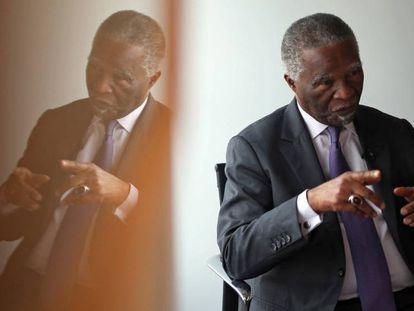 Thabo Mbeki, expresidente de Sudáfrica, el pasado martes en Madrid.