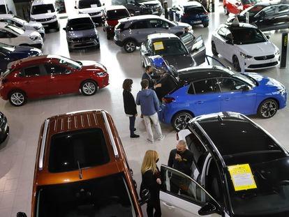 Concesionario de coches Sauter Opel, en Terrassa, en febrero.
