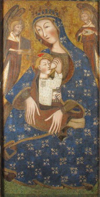 Tabla principal del retablo del Maestro de Cubells que vendieron los hermanos Junyer al Metropolitan.