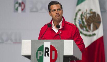 Peña Nieto, durante su intervención en la asamblea.