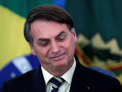 El presidente de Brasil, Jair Bolsonaro, en Brasilia, el pasado 27 de marzo.