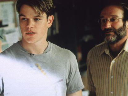 Matt Damon y Robin Williams en una escena de 'El indomable Will Hunting'.