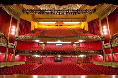 Interior del teatro Lope de Vega de Madrid.