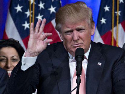 Donald Trump celebra su victoria en Florida.