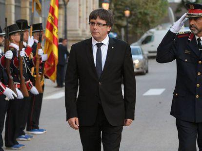 Puigdemont y Trapero, en una imagen de 2017.