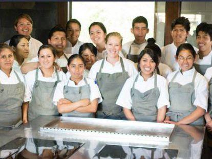 Equipo del Restaurant Gustu, en La Paz, Bolivia.