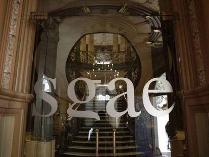 La sede madrileña de la SGAE.