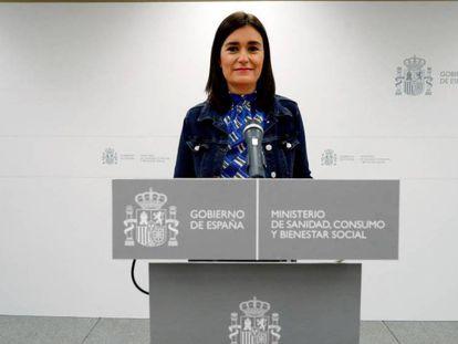 Comparecencia íntegra de la dimisión de la ministra de Sanidad, Carmen Montón.