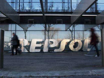 Imagen de la sede de Repsol, en Madrid.