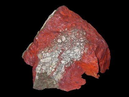 Una muestra de cinabrio (sulfuro de mercurio), el principal mineral extraído en las minas de Almadén.