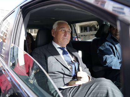 El exasesor del presidente Donald Trump, Roger Stone.