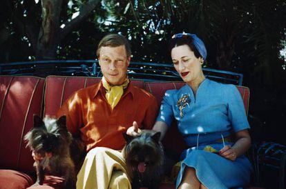 Los duques de Windsor, Eduardo VIII y Wallis Simpson, en una imagen de los años 40.