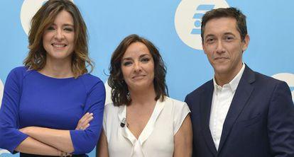 Sandra Barneda, Pepa Bueno y Javier Ruiz, los rostros de Un tiempo nuevo.
