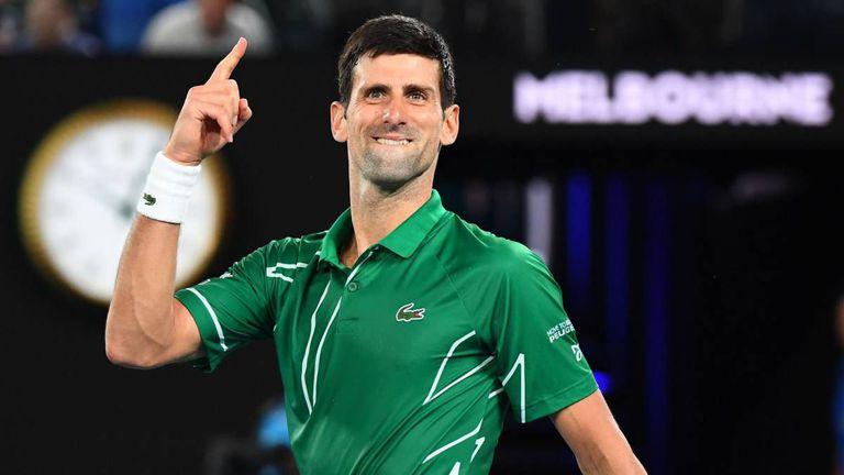 Djokovic celebra un triunfo en Melbourne, el pasado mes de enero. WILLIAM WEST (AFP)