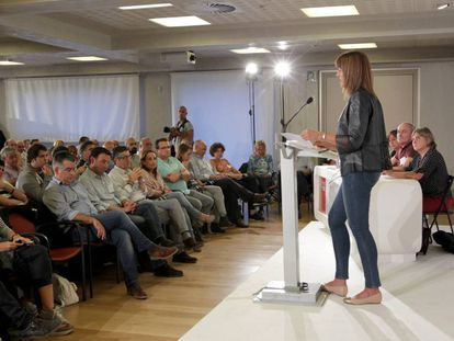 Idoia Mendia interviene esta semana ante el comité nacional del PSE-EE.