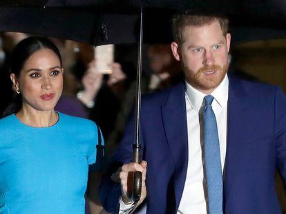 Enrique y Meghan, en una entrega de premios en Londres el 5 de marzo de 2020.