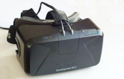 Máscara de realidad virtual Oculus Rift.