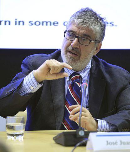 Ruiz ofreció una conferencia en la Secretaría General Iberoamericana en Madrid.