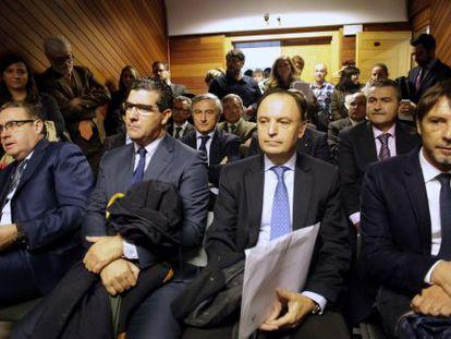Algunos de los demandantes, en el juicio
