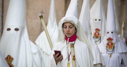 Procesión de Semana Santa en Palma de Mallorca, el 13 de abril pasado.