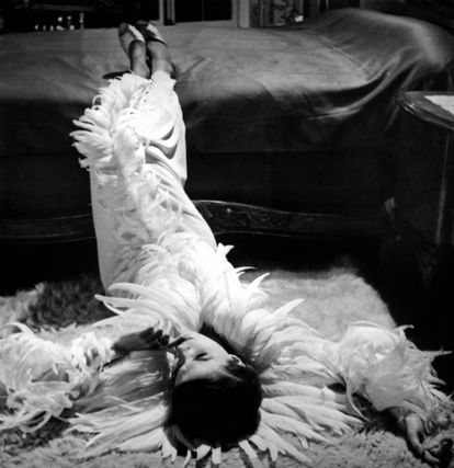 Delphine Seyrig, vestida por Coco Chanel en 'El año pasado en Marienbad'.