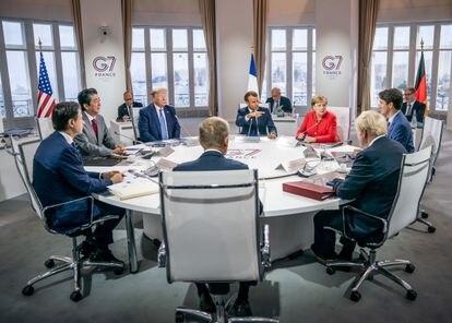 Los líderes del G7, durante la reunión que celebraron el pasado agosto en Biarritz (Francia).